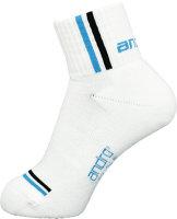 andro Socke Game weiß/blau