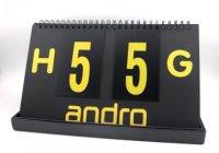 andro Spielstandsanzeiger Scorer schwarz/gelb