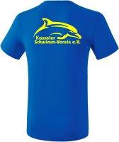 Erima Teamsport T-Shirt Kasseler Schwimm-Verein Mit Name S