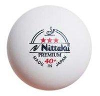 Nittaku Ball*** Premium 40+ weiß